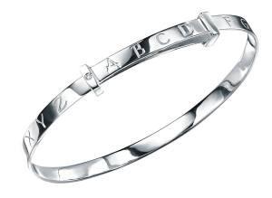 Baby's silver alphabet bracelet