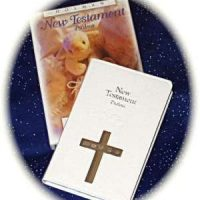 New testament with solid silver cross