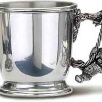 Snuggle Bears Pewter Christening Mug