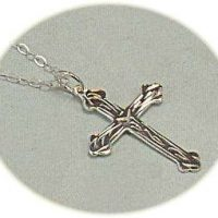 Silver cross and chain