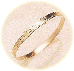 Baby S Gold Bracelet In 9 Carat Gold Christening Gifts At Honfleur