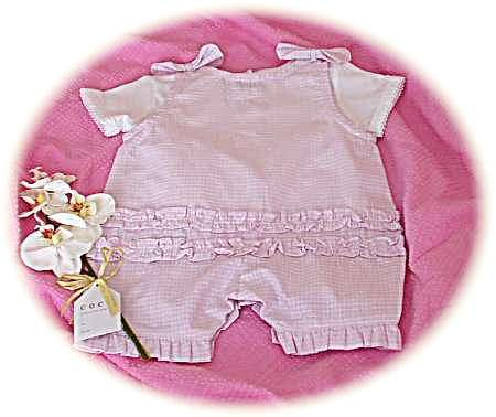 Baby's sun suit - back view